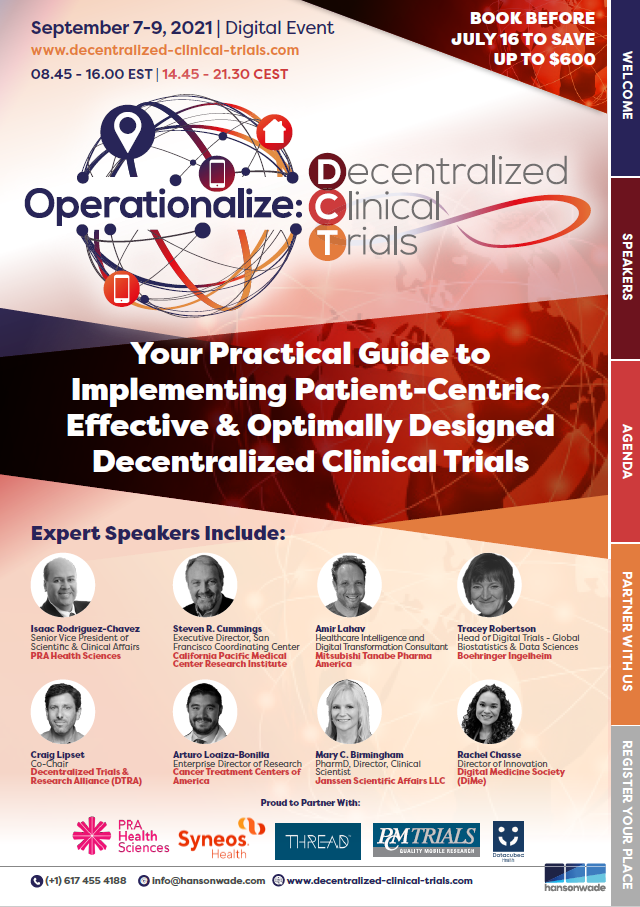 Operationalize Decentralized Clinical Trials Summit Event Guide