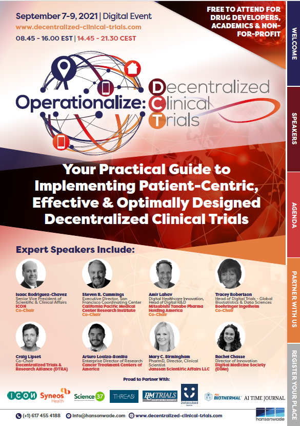 Operationalize Decentralized Clinical Trials Summit brochure